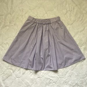 J. Crew Blue/Pink Pinstriped Skirt Size XS